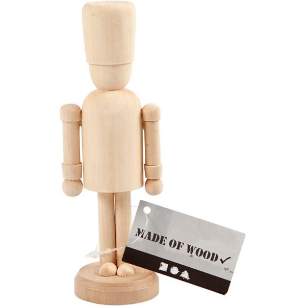 Figurine en bois à décorer - Casse-noisette - 13 cm - Photo n°2
