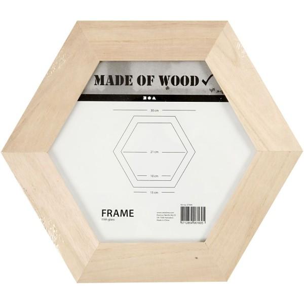 Cadre hexagonal en bois à décorer - 30 x 30 cm - 1 pce - Photo n°2