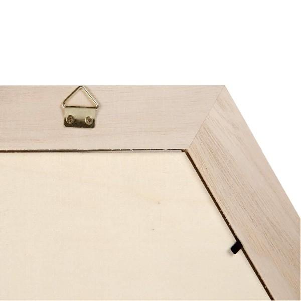 Cadre hexagonal en bois à décorer - 30 x 30 cm - 1 pce - Photo n°3
