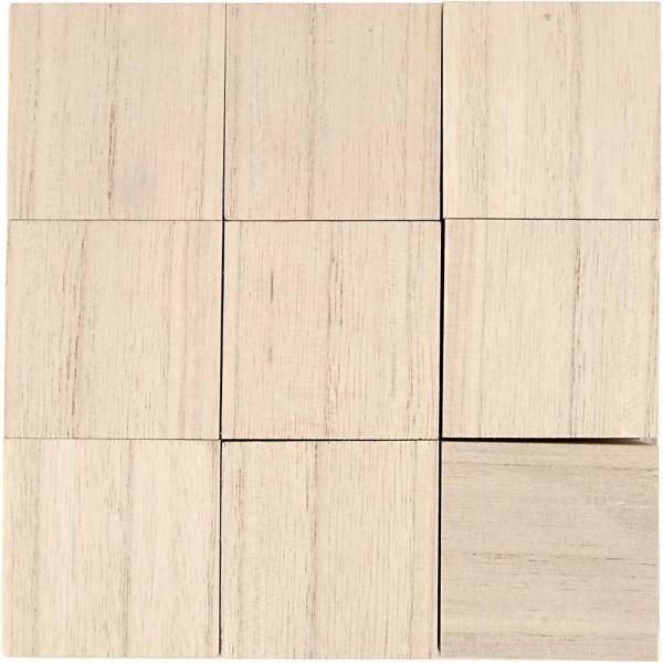 Cubes en bois à décorer - 4 x 4 x 4 cm - 9 pcs - Photo n°1