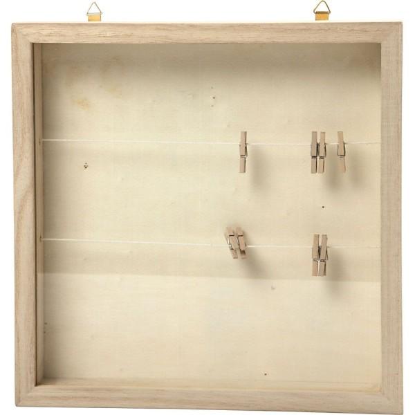 Cadre 3D en bois - 23 x 23 cm - Photo n°1