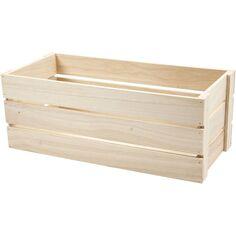 Boîte en bois - 45 x 20 cm