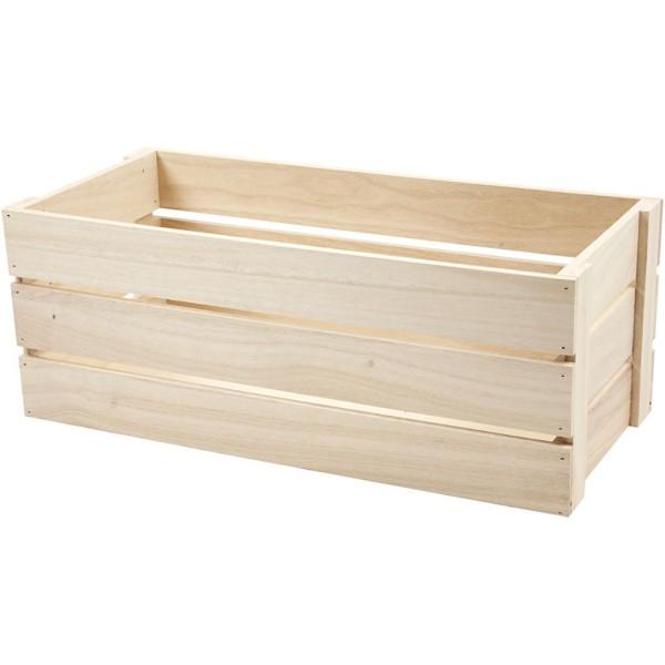 Cagette en bois - 45 x 20 cm - Photo n°1