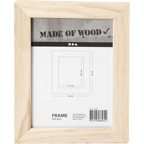 Cadre photo en bois à décorer - 21 x 16 cm - Photo n°1