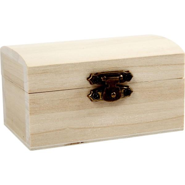 Petite boîte coffre en bois - 9 x 5,2 x 4,9 cm - 10 pcs - Photo n°2