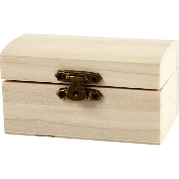 Petite boîte coffre en bois - 9 x 5,2 x 4,9 cm - 10 pcs - Photo n°1