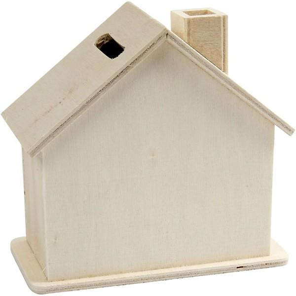 Tirelire maison en bois - 10,1 x 10 x 5,4 cm - Photo n°2