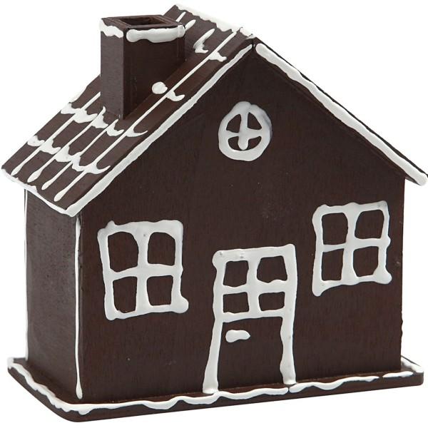 Tirelire maison en bois - 10,1 x 10 x 5,4 cm - Photo n°3
