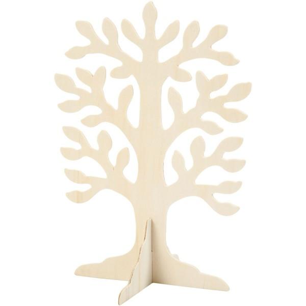 Arbre en bois à décorer - 21,5 x 30 cm - Photo n°1