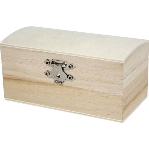 Boîte en bois à décorer   11,5 x 5,8 x 5,8 cm - Photo n°1