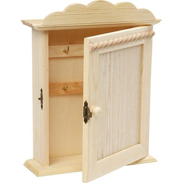 Armoire à clés en bois - 18 x 6 x 22 cm - Photo n°1