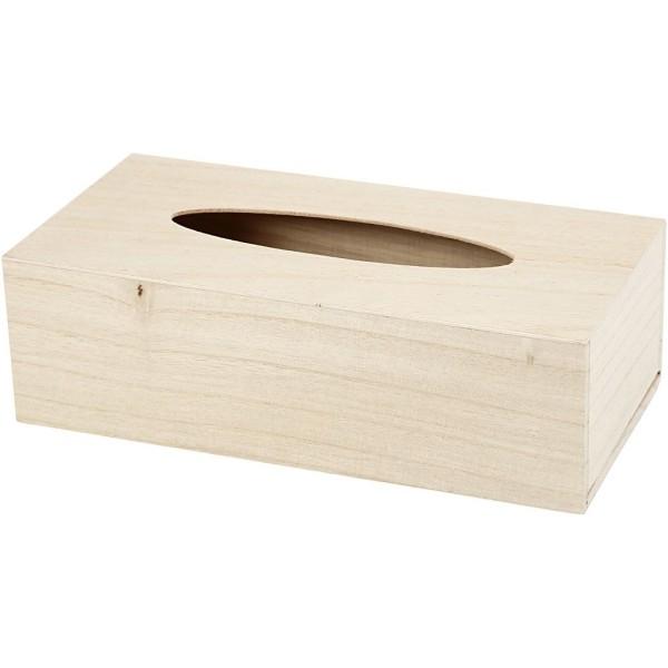 Boîte à mouchoirs en bois à décorer  27 x 14 x 8 cm - Photo n°1