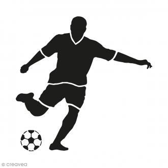 Kit tampon clear et bloc acrylique - Football - 4,5 x 4,5 cm