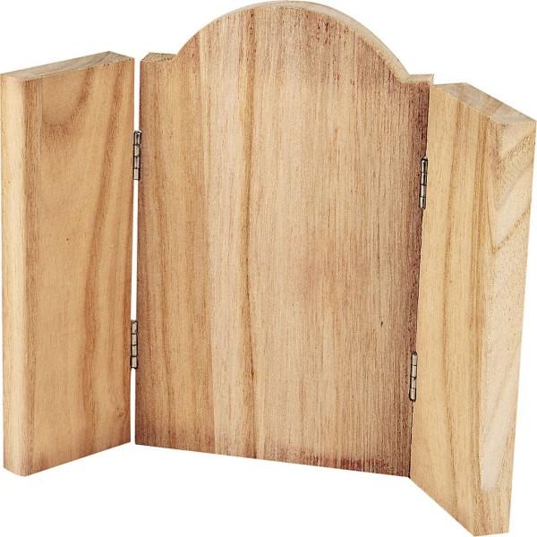 Triptyque en bois à décorer - 18 x 22 cm - Photo n°1