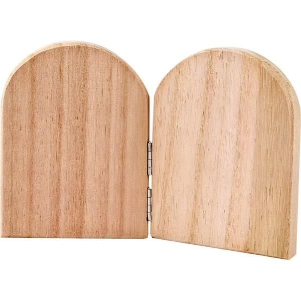 Diptyque en bois à décorer - 11 x 17 cm - Photo n°1