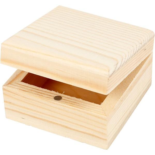 Lot de petites boîtes à bijoux - 6 x 6 x 3,5 cm - 2 pcs - Photo n°1