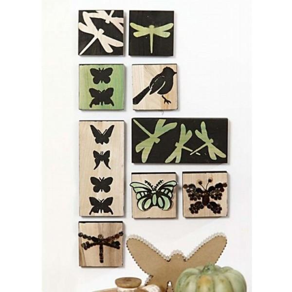 Planche en bois carrée - 9,6 x 9,6 cm - Photo n°3
