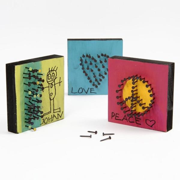Planche en bois carrée - 9,6 x 9,6 cm - Photo n°6