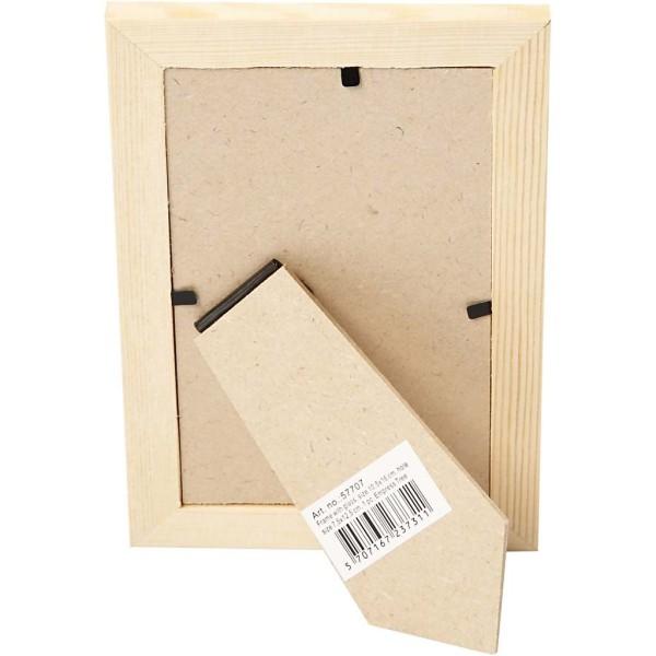 Cadre photo en bois à décorer avec vitre  - 10 ,5 x 15,6 cm - Photo n°2