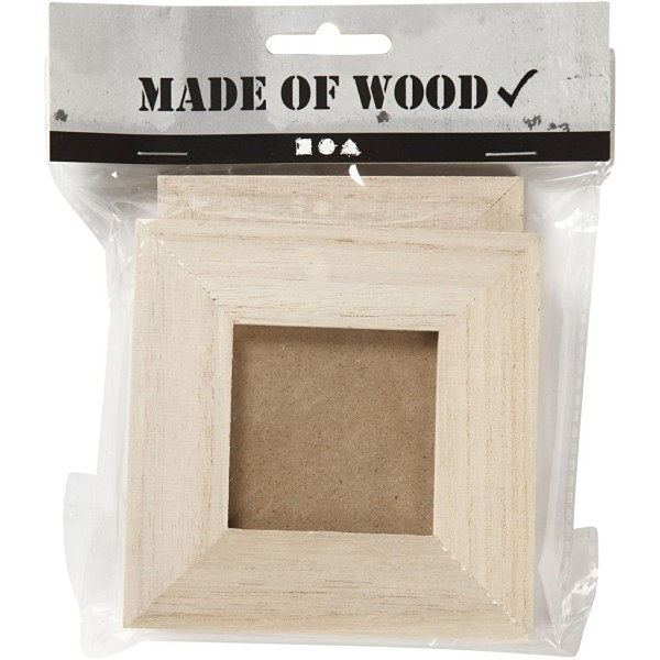 Lot de cadres à photo en bois à décorer   10 x 10 et 9 x 11   2 pcs - Photo n°2