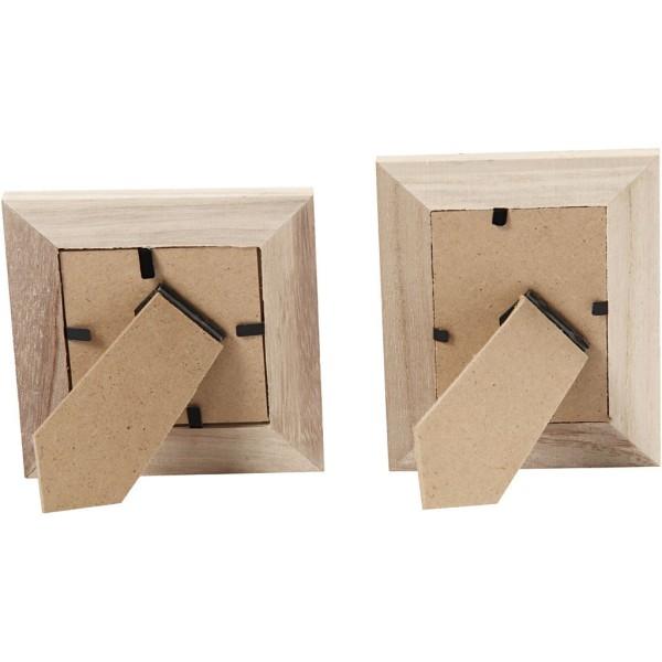 Lot de cadres à photo en bois à décorer   10 x 10 et 9 x 11   2 pcs - Photo n°3