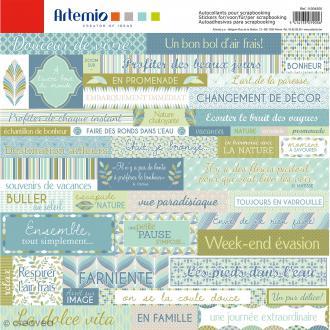 Stickers Artemio - Nature - 1 planche de 30,5 x 30,5 cm