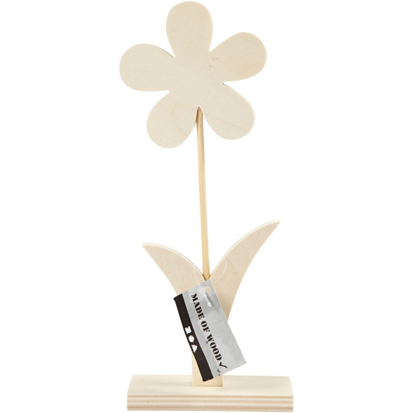 Fleur en bois à décorer - 23 x 9,5 cm - Photo n°2