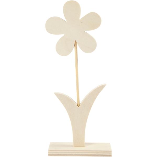 Fleur en bois à décorer - 23 x 9,5 cm - Photo n°1