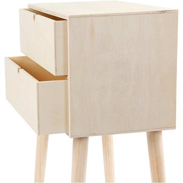 Meuble tiroir sur pieds en bois à décorer - 61 x 39 x 24 cm - Photo n°5