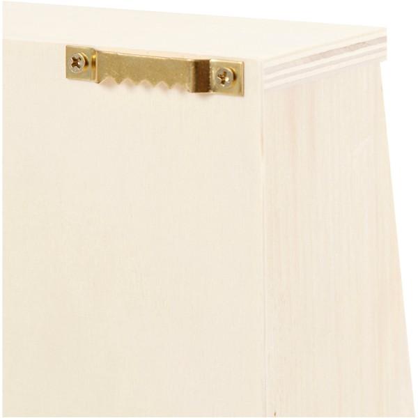 Coffre à clés 2 tiroirs en bois - 22 x 28,5 cm - Photo n°2