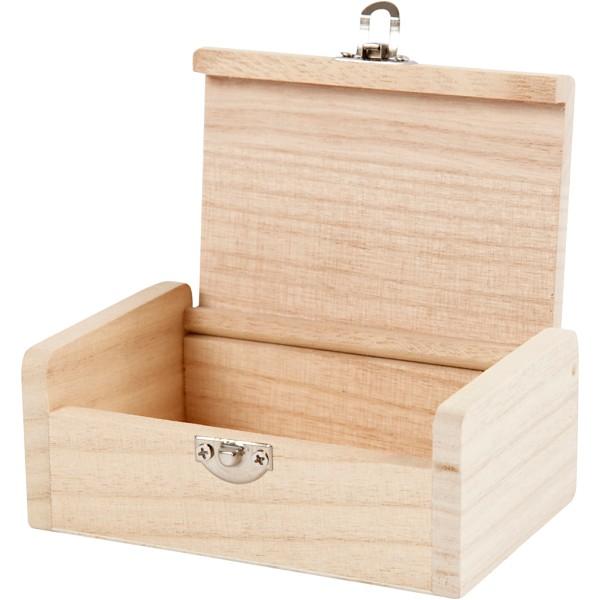 Boîte à bijoux en bois à décorer - 11,5 x 7,5 x 4,5 cm - Photo n°2