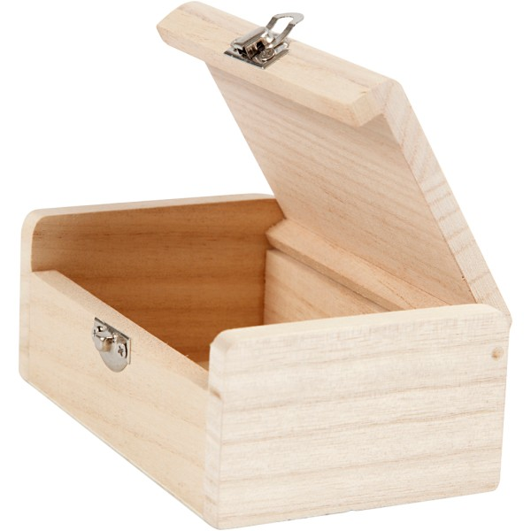 Boîte à bijoux en bois à décorer - 11,5 x 7,5 x 4,5 cm - Photo n°3