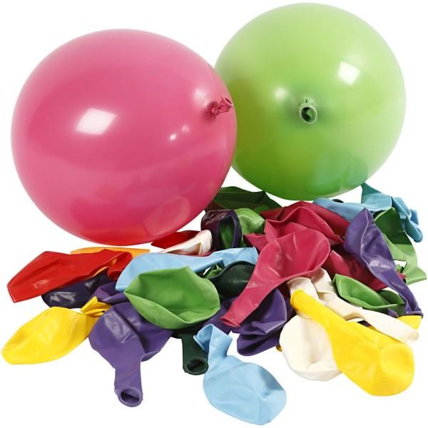 Ballons de baudruche 23 cm -Multicolore - 100 pcs - Photo n°1