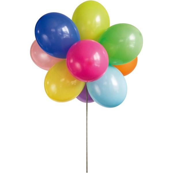 Porteur de ballons bleu 10,3 cm - Pour 8 ballons - Photo n°4