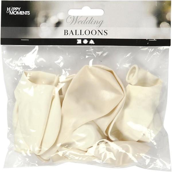 Assortiment de ballons blancs et nacrés 23 cm - 10 pcs - Photo n°2