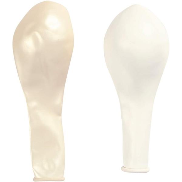 Assortiment de ballons blancs et nacrés 23 cm - 10 pcs - Photo n°3