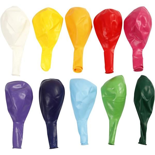 Ballons de baudruche 23 cm -Multicolore - 10 pcs - Photo n°1