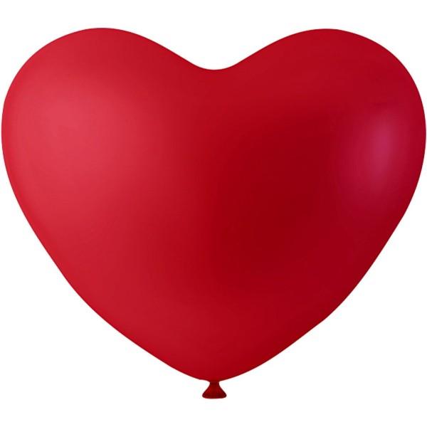 Ballon coeur Rouge - 8 pcs - Photo n°1