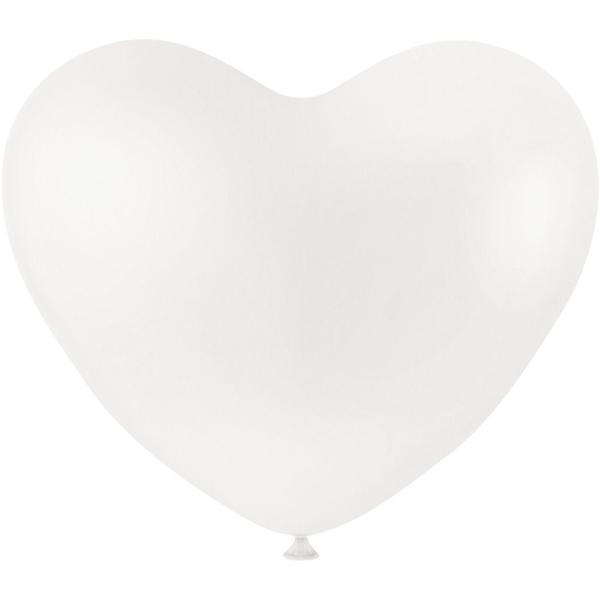 Ballon coeur Blanc - 8 pcs - Photo n°1