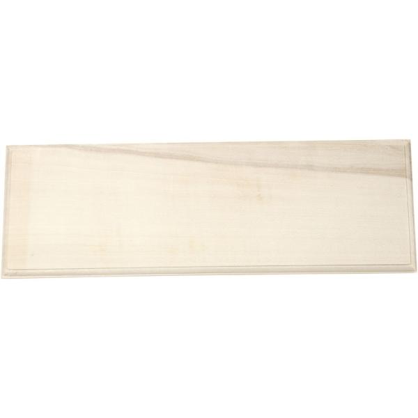 Panneau en bois à décorer - 10 x 30 cm - Photo n°1
