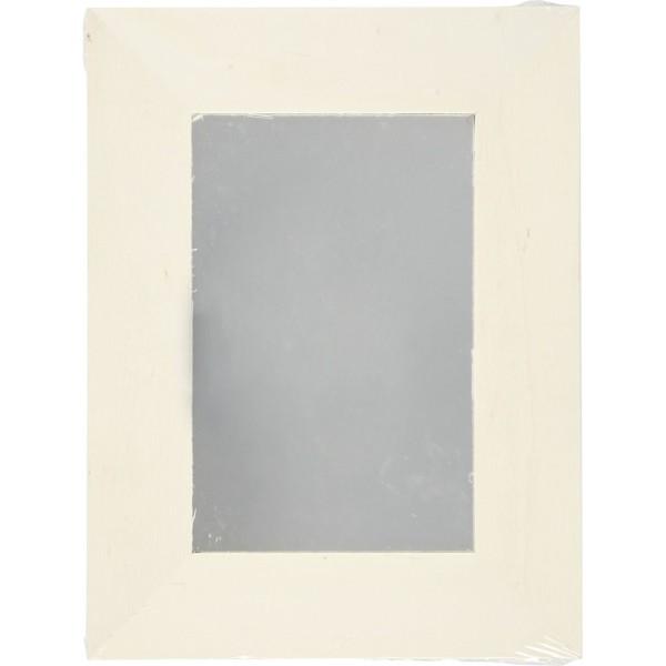 Miroir en bois à décorer - 20,8 x 15,9 cm - Photo n°2