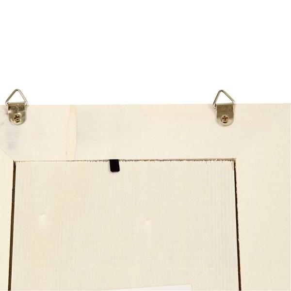 Miroir en bois à décorer - 20,8 x 15,9 cm - Photo n°3