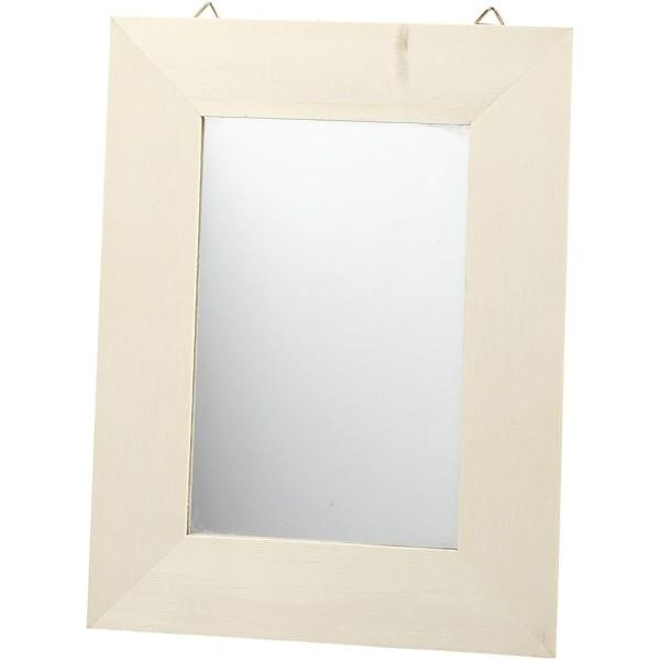 Miroir en bois à décorer - 20,8 x 15,9 cm - Photo n°1