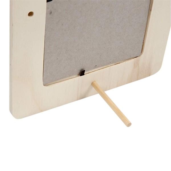 Lot de cadre en bois avec coins arrondis - 16 x 21,5 cm - 3 pcs - Photo n°4