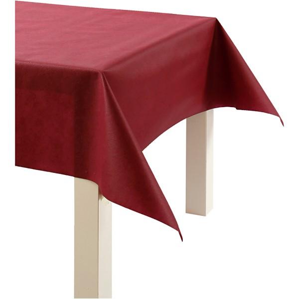 Nappe De Table Ou Immitation Tissu, Rouge Vin, L: 125 Cm,  70 G/M2, 10M - Photo n°1