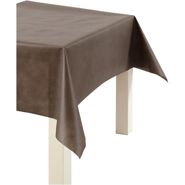 Nappe De Table Ou Immitation Tissu, Brun, L: 125 Cm,  70 G/M2, 10M - Photo n°1