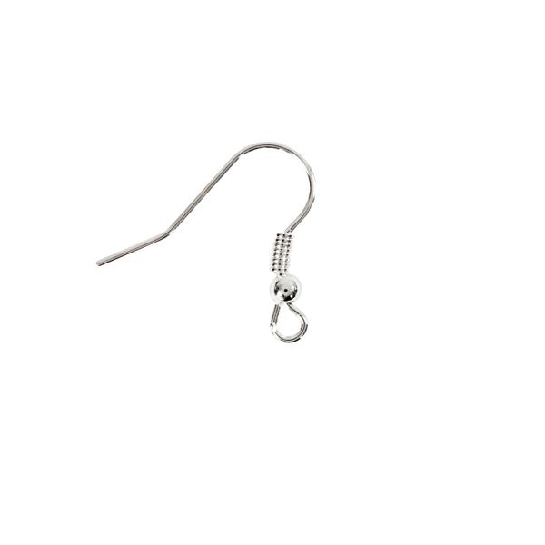 Crochets d'oreille 18 mm - Argenté - 10 pcs - Photo n°3