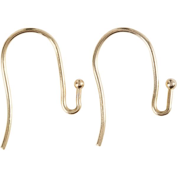 Crochets d'oreilles - Doré - 21 mm - 6 pcs - Photo n°1
