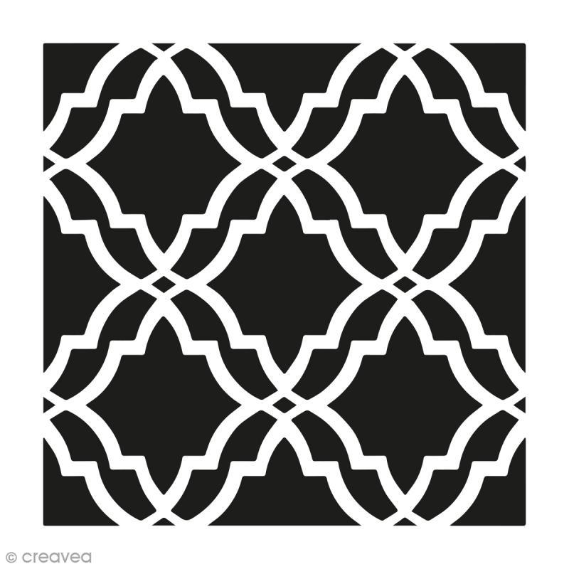 pochoir home deco grand vitrail 30 x 30 cm pochoir mural creavea. Black Bedroom Furniture Sets. Home Design Ideas