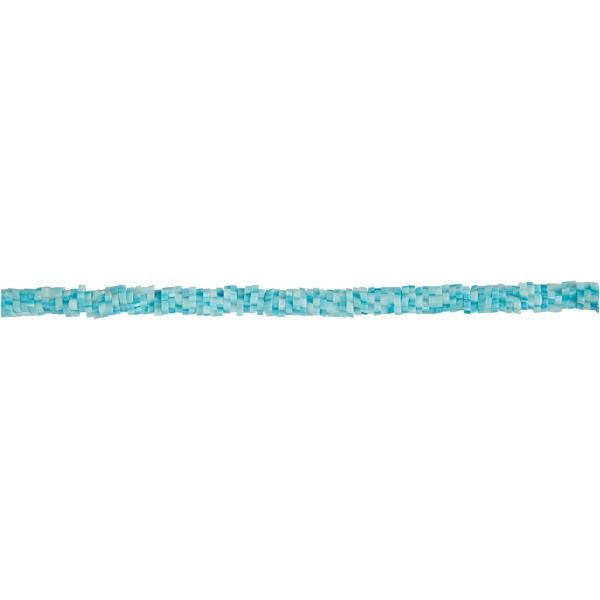 Lot Perles en Terre cuite - Forme fleur Turquoise- 5 à 6 mm - 145 pcs - Photo n°1
